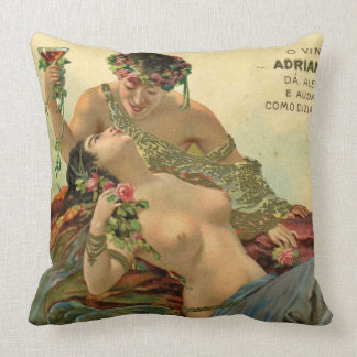 Wine Ad 1912 Throw Pillow
