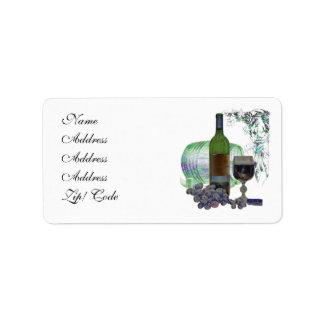 Wine Address Label