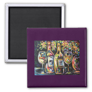 WINE AFTERNOON 2 INCH SQUARE MAGNET