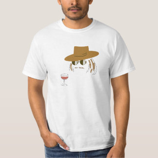Wine and a Guy with a Hat T-Shirt