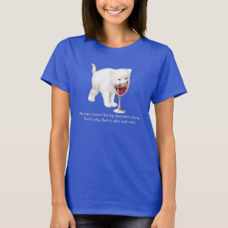 Wine and Cat Lover Quote T-Shirt