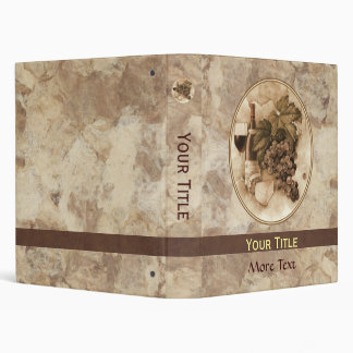 Wine and Cheese 3 Ring Binder