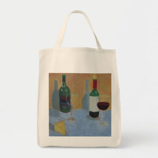 Wine and Cheese Canvas Bag