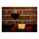 Wine and Cheese Birthday Greeting Card