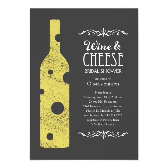 Cheese Bridal Shower Invitations