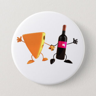 Wine And Cheese Button