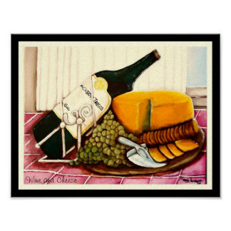 Wine and Cheese By Mandy Fairbairn Poster