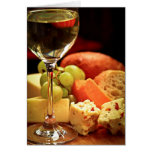 Wine and cheese card