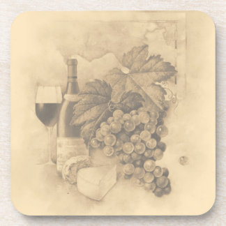 Wine and Cheese Drink Coaster