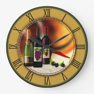 Wine and Cheese Custom Wall Clock