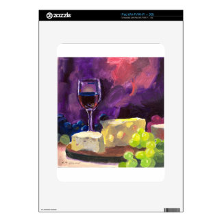 Wine and Cheese Decals For The iPad