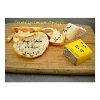 Wine and Cheese Engagement Party Card