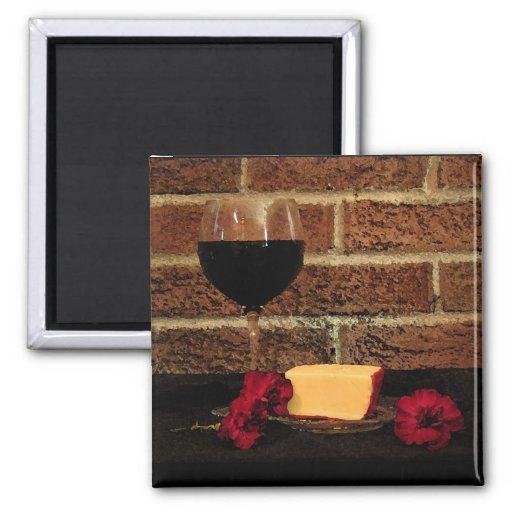 Wine and Cheese Fridge Magnet