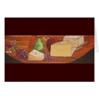 Wine and Cheese invitation Stationery Note Card