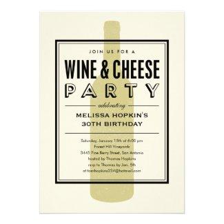 Wine and Cheese Invitations