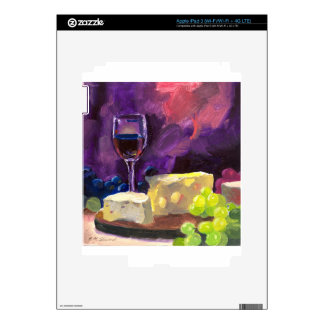 Wine and Cheese iPad 3 Decal