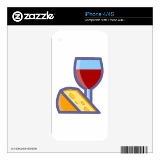 Wine and Cheese iPhone 4 Decal
