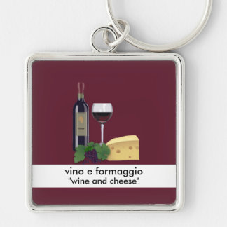 Wine and Cheese Keychain