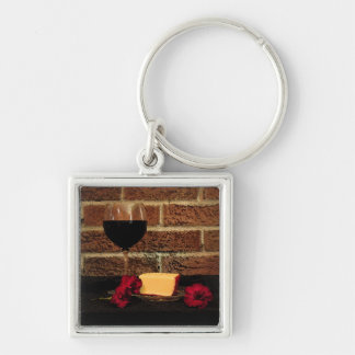 Wine and Cheese Keychains