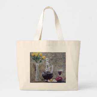 Wine and Cheese Large Tote Bag