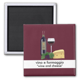 Wine and Cheese Magnet