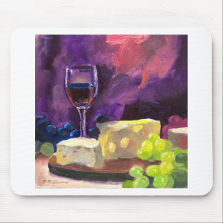 Wine and Cheese Mouse Pads