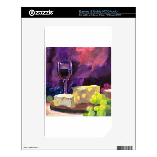 Wine and Cheese NOOK Color Decal
