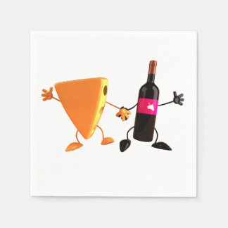 Wine And Cheese Paper Napkins