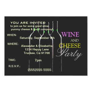 Wine and Cheese Party 5x7 Paper Invitation Card