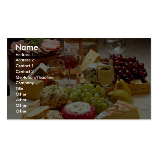Wine and cheese party Double-Sided standard business cards (Pack of 100)