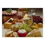 Wine and cheese party greeting card