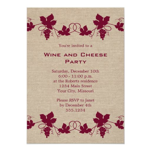 Wine and Cheese Party Invitations | Zazzle