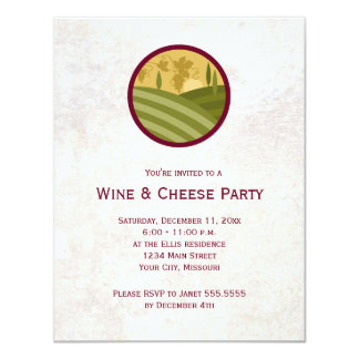 Wine And Cheese Party Invitations Announcements Zazzle