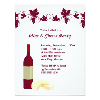 wine and cheese party invitations  announcements  zazzle, party invitations