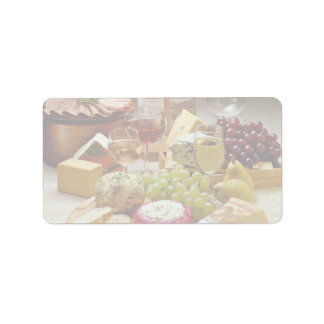 Wine and cheese party label