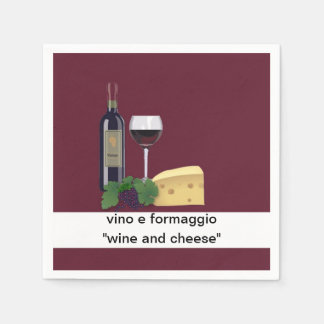 Wine and Cheese Party Paper Napkin