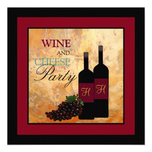 Wine and Cheese Party Personalized Invitation