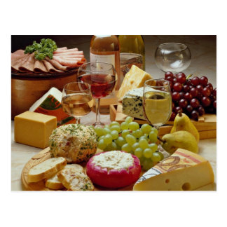 Wine and cheese party post card