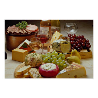 Wine and cheese party poster