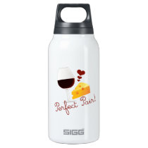 Wine and Cheese, Perfect pair Insulated Water Bottle
