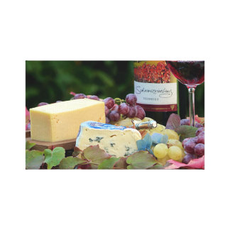Wine and Cheese Picture Canvas