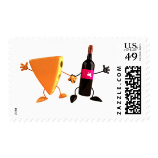 Wine And Cheese Postage