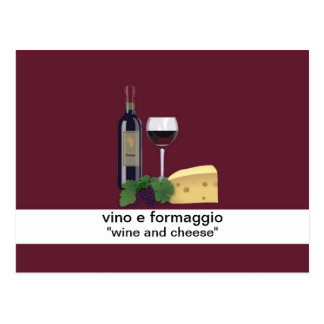 Wine and Cheese Postcard