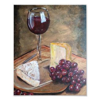 Wine and Cheese Print Photo Print