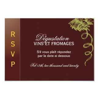 """Wine and Cheese Reply Cards - 3.5"""" x 5"""" Personalized Announcements"""