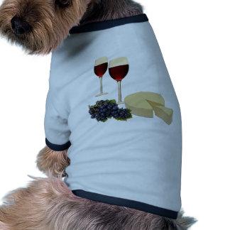 Wine and Cheese Series Doggie Tshirt