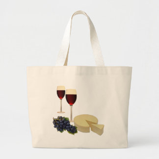 Wine and Cheese Series Large Tote Bag