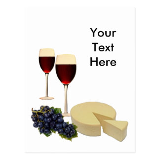 Wine and Cheese Series Postcard