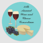 Wine and Cheese Series Stickers
