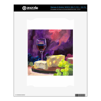 Wine and Cheese Skin For The NOOK